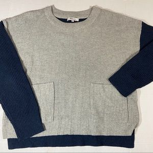 NWOT Madewell color block sweater